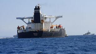 ناقلة النفط الإيرانية المحتجزة من قبل حكومة مضيق جبل طارق