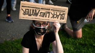 من المظاهرات المناهضة للعنصرية في نيويورك