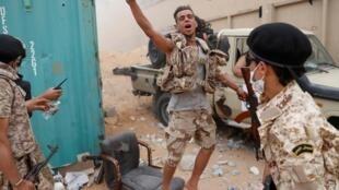 مقاتلين تابعين لحكومة الوفاق