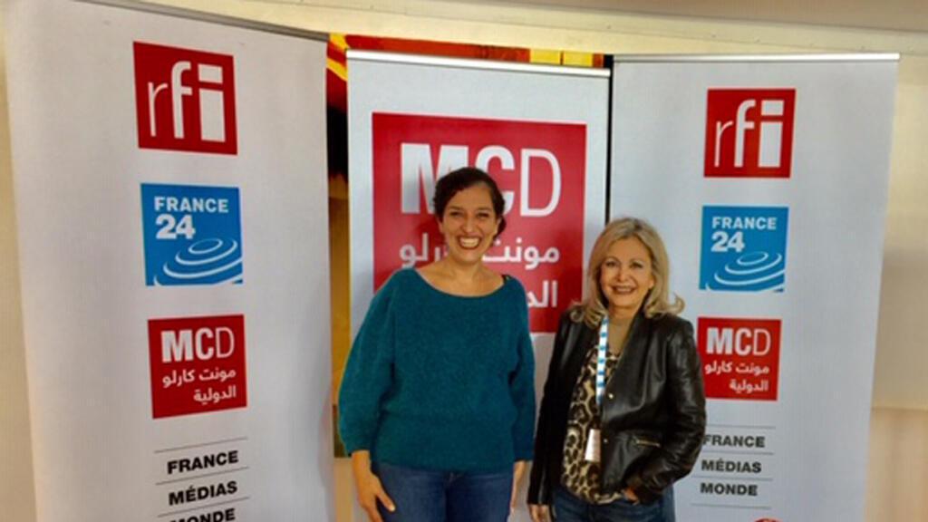 الباحثة الجزائرية كريمة لازالي والإعلامية كابي لطيف