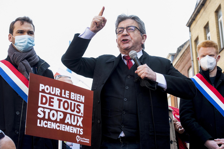 """جان لوك ميلانشان زعيم حزب """"فرنسا الأبية"""""""