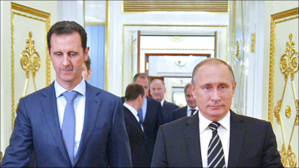 بوتين والأسد في الكرملين في 21 تشرين الأول 2015