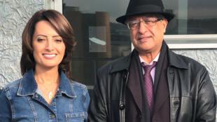 د.معجب الزهراني والصحافية إيمان حمود