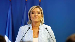 مارين لوبان زعيمة الجبهة الوطنية في فرنسا
