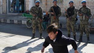 عناصر من الشرطة السورية في جرابلس