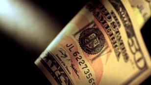 ورقة دولار نقدية من فئة 50