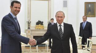فلاديمير بوتين وبشار الأسد في موسكو