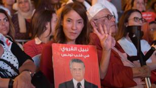 أنصار نبيل القروي المرشح للإنتخابات الرئاسية في تونس
