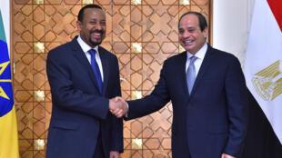 الرئيس المصري ورئيس الوزراء الإثيوبي