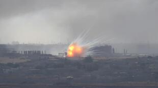 القصف على بلدة رأس العين السورية