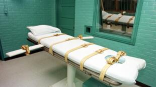 كرسي الإعدام في أحد سجون ولاية ألاباما الأمريكية