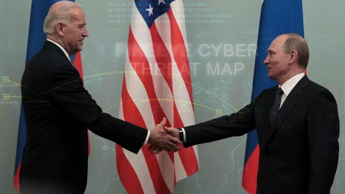 لقاء الرئيس الأمريكي جو بايدن بالرئيس الروسي فلاديمير بوتين