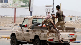 أفراد من القوات الانفصالية اليمنية الجنوبية المدعومة من دولة الإمارات العربية المتحدة