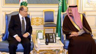 الملك سلمان وميشال عون في الرياض