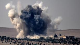 المقاتلات التركية تقصف مواقع على الحدود السورية 24-08-2016