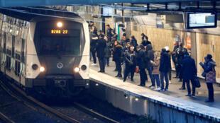 الصورة من محطة قطار في باريس-