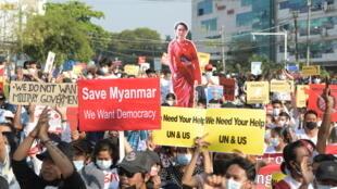 مظاهرات بورما
