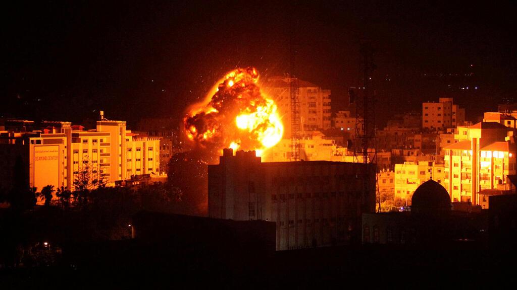 الضربات الجوية الاسرائلية على غزة 25-03-2019