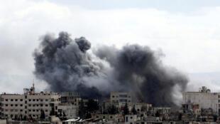 غارات وقصف الجيش السوري في الغوطة