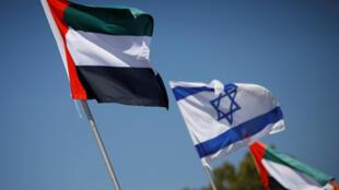 علما إسرائيل والإمارات في مدينة نتانيا الإسرائيلية