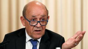 وزير الخارجية الفرنسي جان-إيف لودريان-رويترز