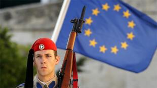 أمام البرلمان اليوناني في 9 حزيران 2015