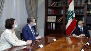 الرئيس عون يجتمع مع مستشار الرئيس الفرنسي للشرق الأدنى باتريك دوريل