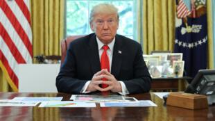 الرئيس الامريكي دونالد ترامب-