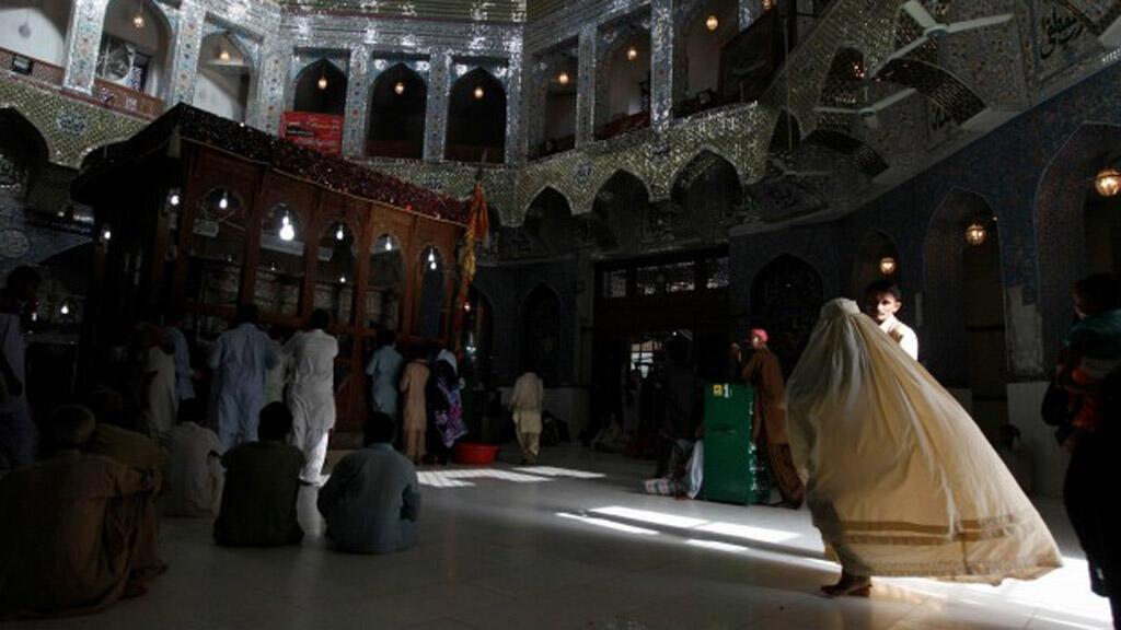 مقام صوفي في مقاطعة السند في جنوب باكستان