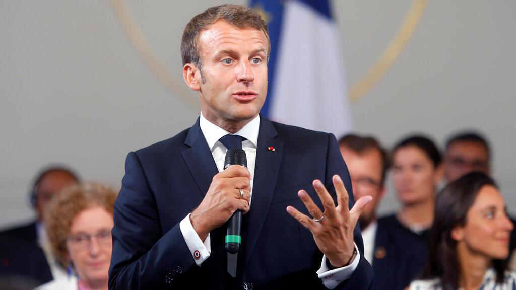 الرئيس الفرنسي إيمانويل ماكرون-