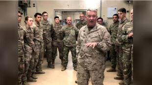 الجنرال كينيث ماكنزي قائد القيادة المركزية الأمريكية في أفغانستان يوم 9 سبتمبر أيلول 2019