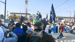 جانب من المظاهرة في المغرب