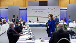 خلال جلسات الحوار الليبي في سويسرا