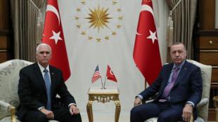 الرئيس التركي يلتقي نائب الرئيس الأميركي