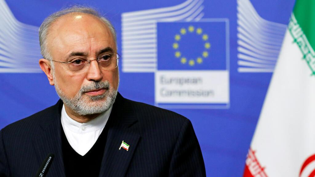 رئيس منظمة الطاقة الذرية الإيرانية علي أكبر صالحي في بروكسل