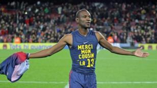 لاعب برشلونة بعد رجوعة إلى الملاعب في أول مباراة له بعد زرع كبد ( موقع نادي برشلونة)