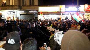 أكراد يتظاهرون في برلين ضد العملية العسكرية التركية شمال سوريا