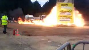 لحظة انفجار كرنفال بلدة فيلبينت