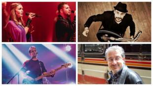 الفنانون:ابراهيم نجم، رشا رزق، أحمد حافظ والمنتج رائد عصفور