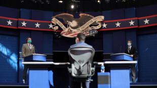 من تحضيرات المناظرة الأولى بين ترامب وبايدن