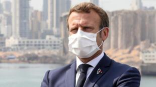 ماكرون في منطقة مرفأ بيروت المدمرة