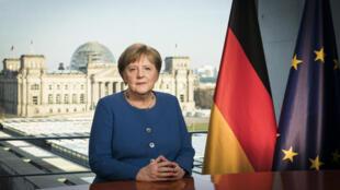 المستشارة الألمانية انغيلا ميركل كلمة متلفزة توجهت بها إلى مواطنيها يوم 18 مارس 2020