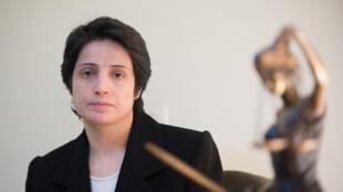 المحامية الإيرانية نسرين سوتوده في طهران عام 2008