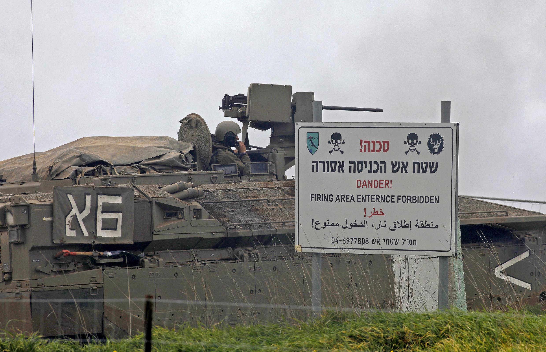 القوات الإسرائيلية خلال مناورة عسكرية في مرتفعات الجولان التي ضمتها إسرائيل في 13 يناير/ كانون الثاني 2021