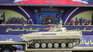 خلال عرض عسكري للجيش الإيراني في طهران
