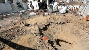 مكان سقوط الصاروخ في اليمن