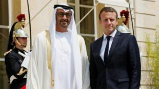 الرئيس الفرنسي وولي عهد أبو ظبي