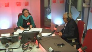 المحلل السياسي التونسي توفيق المثلوثي رفقة مقدمة البرنامج إيزيس غريس
