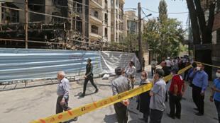من موقع انفجار في العاصمة الإيرانية