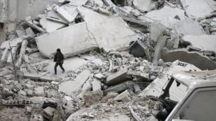 غارة تكشف حجم الدمار في سوريا